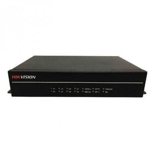 DS-3V08T-A/1080 - 8-ми канальный 1080р HD-TVI передатчик цифрового видео по оптоволокну.