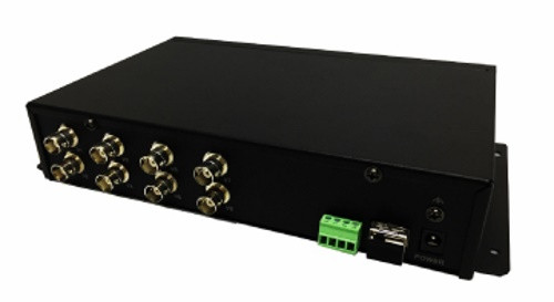DS-3V08T-A/720 - 8-ми канальный 720р HD-TVI передатчик цифрового видео по оптоволокну.