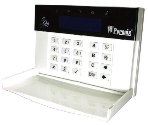 PCX-LCDP - Выносная клавиатура управления со встроенным считывателем бесконтактных карт для контрольных панелей серии PCX.