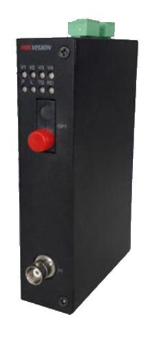 DS-3V01T-A/720 - 1 канальный 720р HD-TVI передатчик цифрового видео по оптоволокну.