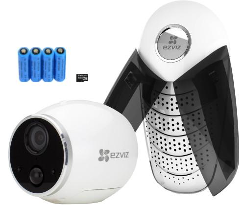 Mini Trooper X1 - Автономный комплект видеонаблюдения из 1MP-камеры Mini Trooper, базовой станции, карты памяти  8 Гб и элементов питания.