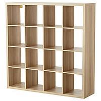 КАЛЛАКС Стеллаж, под беленый дуб ИКЕА, IKEA, фото 1