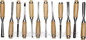 """Набор STAYER """"PROFI"""": Стамески фигурные с деревянной ручкой, 12шт"""