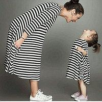 Комплект платья для мамы и дочки