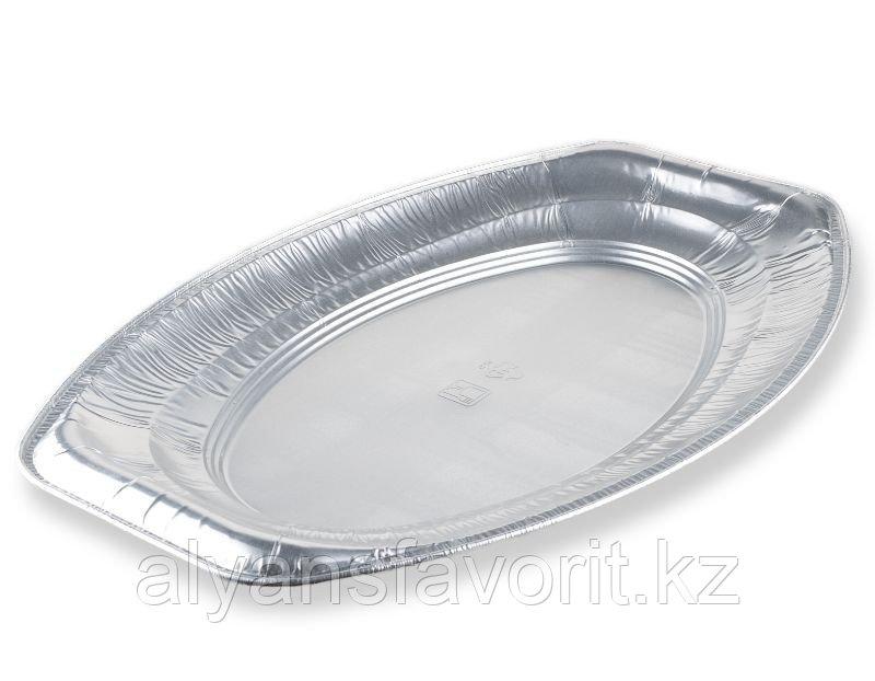 Блюдо из алюминиевой фольги овальное 227*135 мм, 1 200 мл.РФ