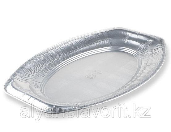 Блюдо из алюминиевой фольги овальное 227*135 мм, 1 200 мл.РФ, фото 2