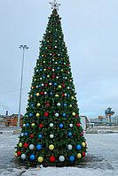Уличная искусственная каркасная Елка Уральская (хвоя-леска), высотой 4 м, фото 1