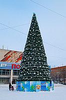 Уличная искусственная каркасная Елка Уральская (хвоя-пленка), высотой 5 м
