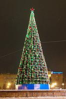 Уличная искусственная каркасная Елка Уральская (хвоя-пленка), высотой 4 м