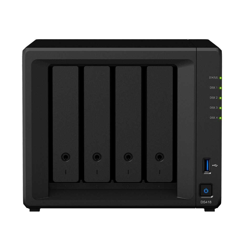 Сетевой RAID-накопитель, Synology DS418 4xHDD NAS-сервер для дома и бизнеса