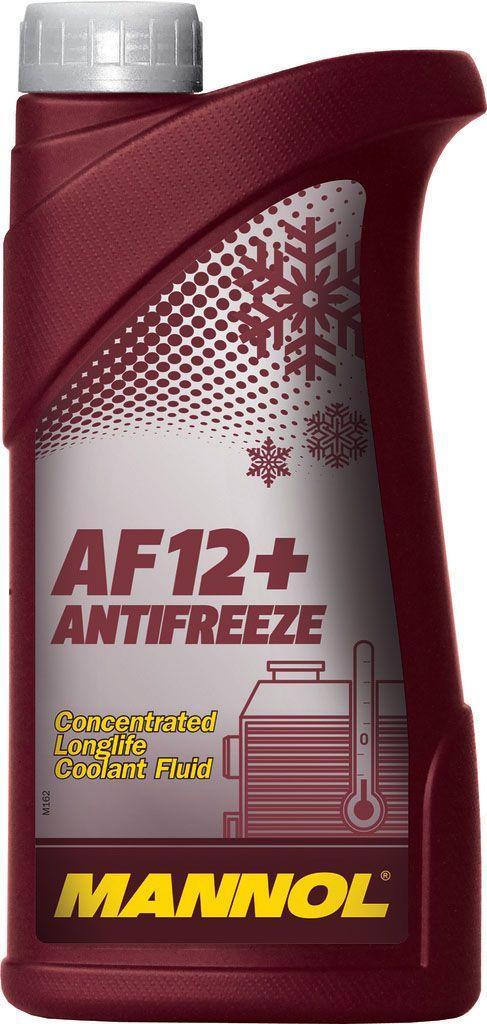 Антифриз Концентрат красный MANNOL Longlife Antifreeze AF12+ Concentrate 1,12кг.
