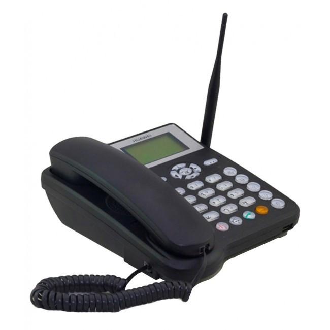 Телефон беспроводной стационарный GSM 900/1800, LCD дисплей, черный