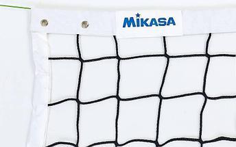 Сетка для волейбол 2018 Mikasa (PP 4мм, р-р 9,5×1м, ячейка 9 × 9 см, с метал. тросом), фото 2