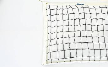 Сетка для волейбол 2018 Mikasa (PP 4мм, р-р 9,5×1м, ячейка 9 × 9 см, с метал. тросом), фото 3