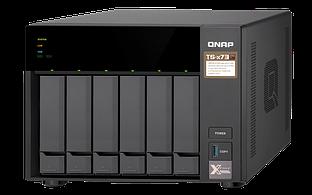 """Сетевой RAID-накопитель Qnap TS-673-4G, 6 отсеков 3,5""""/2,5"""", 2 слота M.2 SSD. AMD RX-421ND 2,1 ГГц (до 3,4 ГГц"""