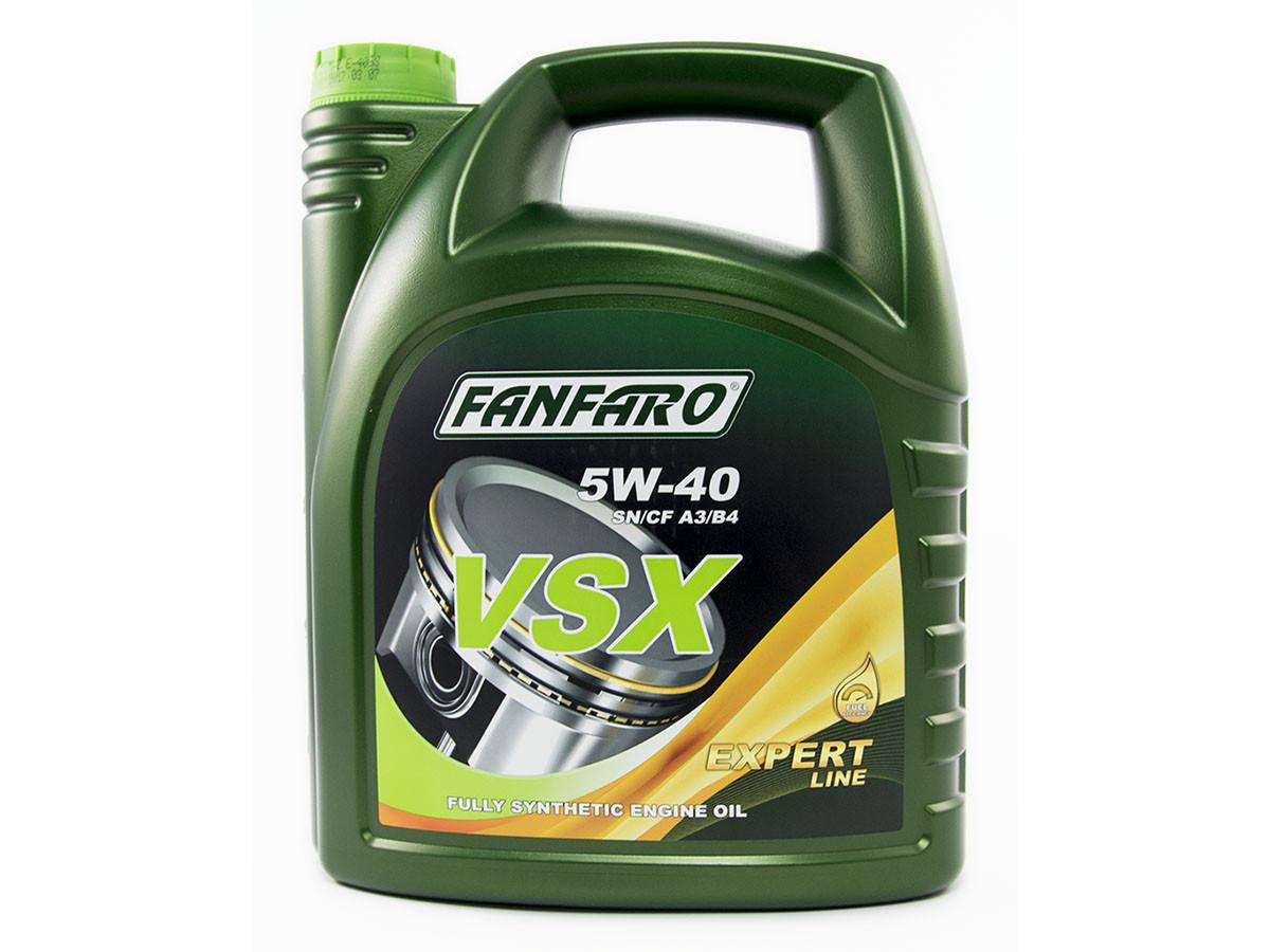 Моторное масло синтетика FANFARO VSX 5W-40 5L