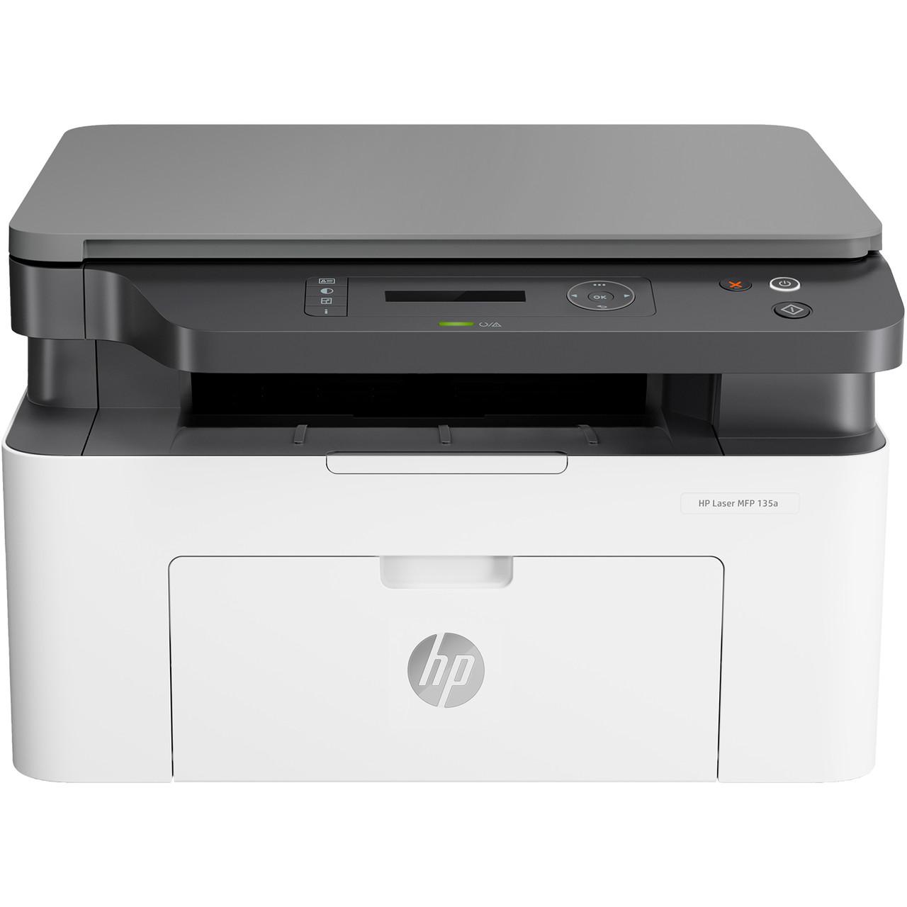 МФУ HP 4ZB82A Laser MFP 135a Printer, A4, печать 1200x1200dpi, копир 600x600dpi, сканер 600x600dpi, Hi-Speed U