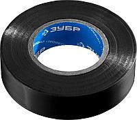 ЗУБР Электрик-20 Изолента ПВХ, не поддерживает горение, 20м (0,16x19мм), черная, фото 1