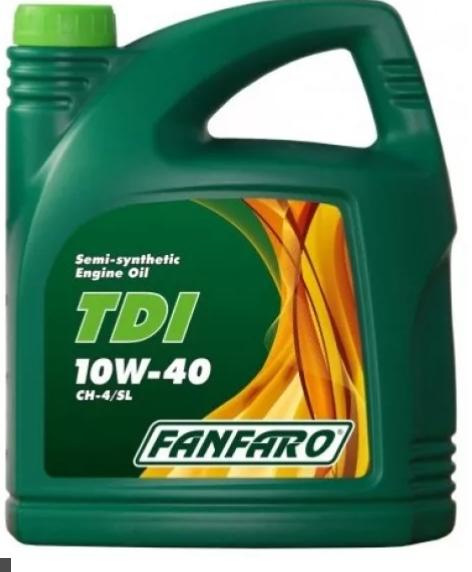 FANFARO - TDX 10W-40, полусинтетическое моторное масло 4л