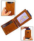 Кожаный купюродержатель i.m.p с защитой от воровства - технология RFID, фото 5