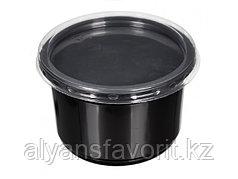 Контейнер суповой К-115 500 мл, с крышкой, черный/прозрачный