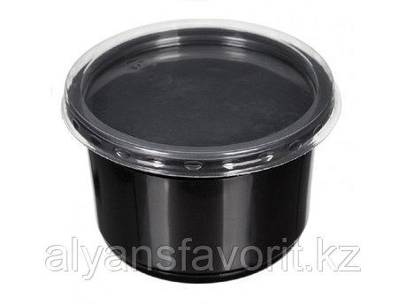 Контейнер суповой К-115 500 мл, с крышкой, черный/прозрачный, фото 2