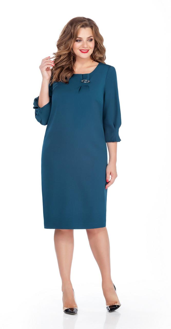 Платье TEZA-243, бирюзовый, 50