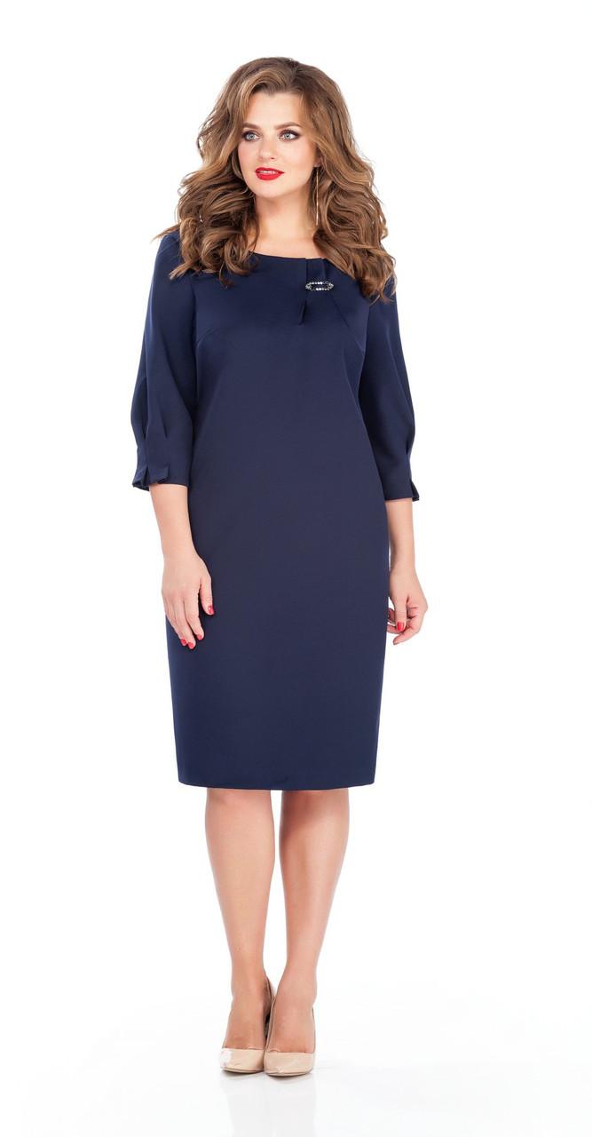 Платье TEZA-243/1, темно-синий, 50