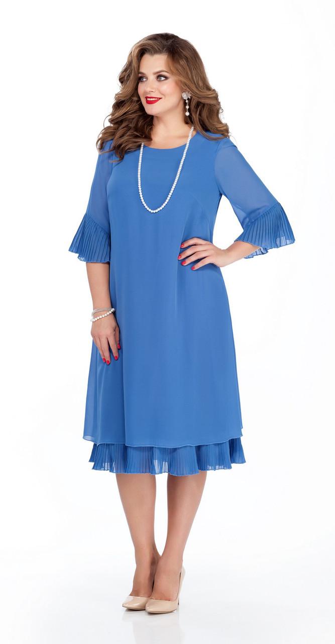 Платье TEZA-250, голубые тона, 50
