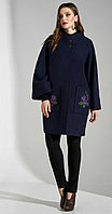 Пальто Lissana-3609, темно-синий, 56