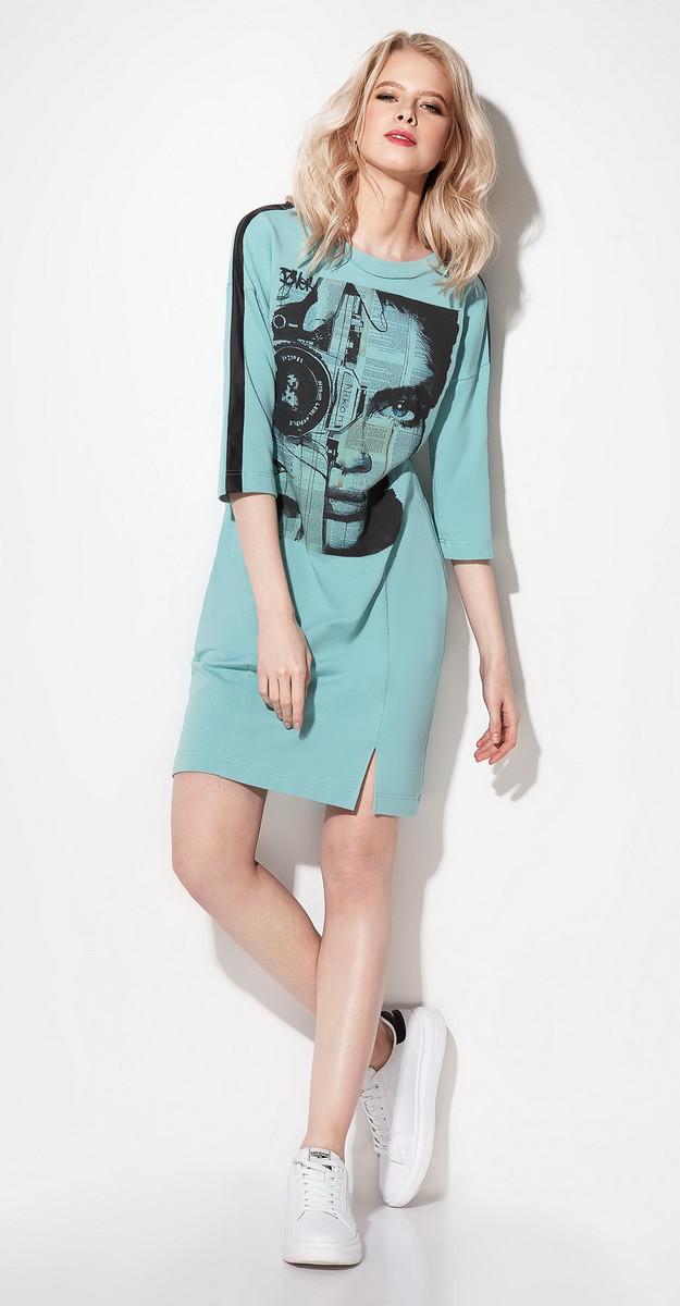 Платье Prio-196280, мята, 42