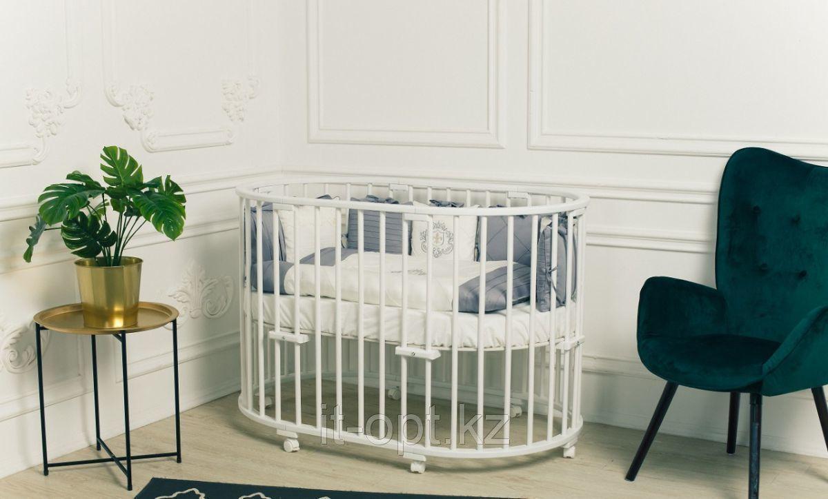 """Кроватка - трансформер Caramelia """"SweetDream 3 в 1"""" NEW, (белый)"""