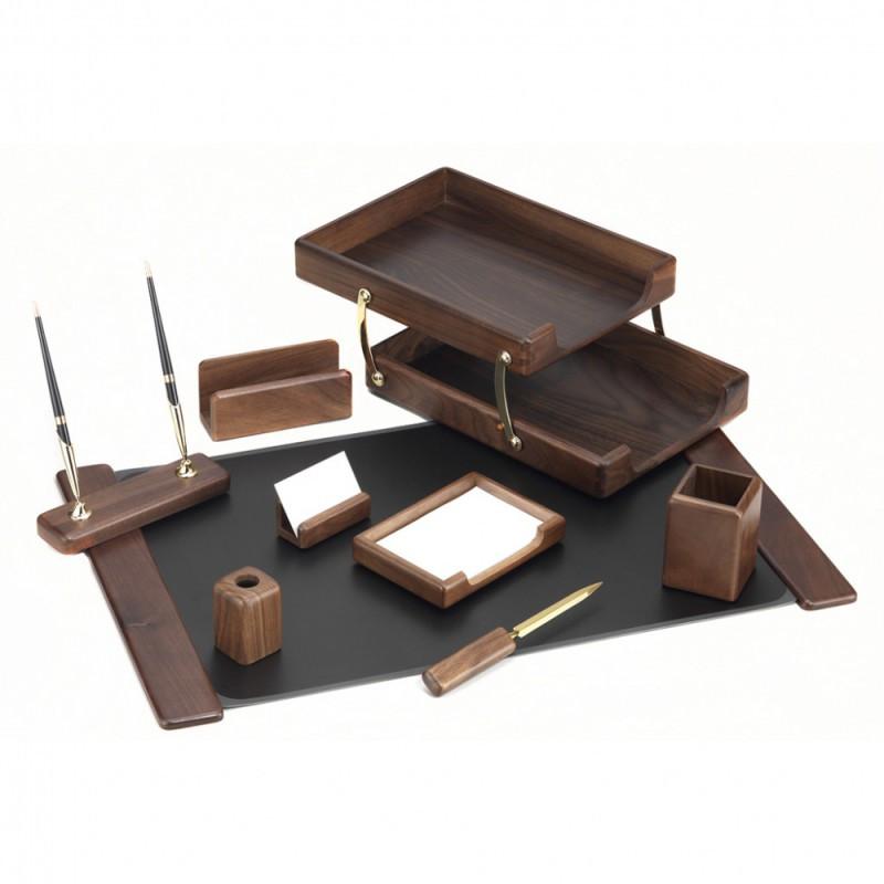 Набор настольный Good Sunrise деревянный, 9 предметов, орех