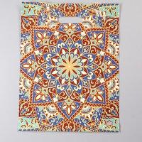 Пакет 'Восточная мозайка', полиэтиленовый с вырубной ручкой, 40 х 31 см, 60 мкм (комплект из 50 шт.)