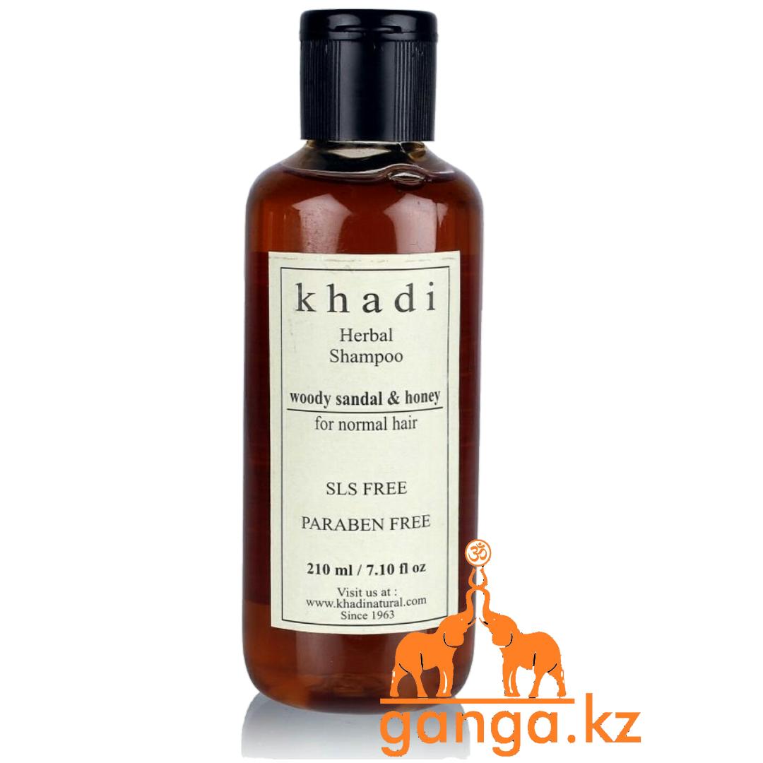 Шампунь KHADI Сандал и Мед без СЛС и Парабенов (Sandal & Honey SLS FREE PARABEN FREE), 210 мл.