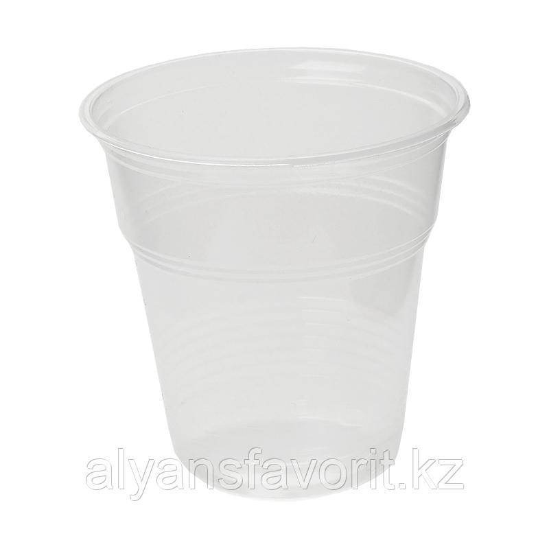 Стакан прозрачный пластиковый 100 мл. РФ