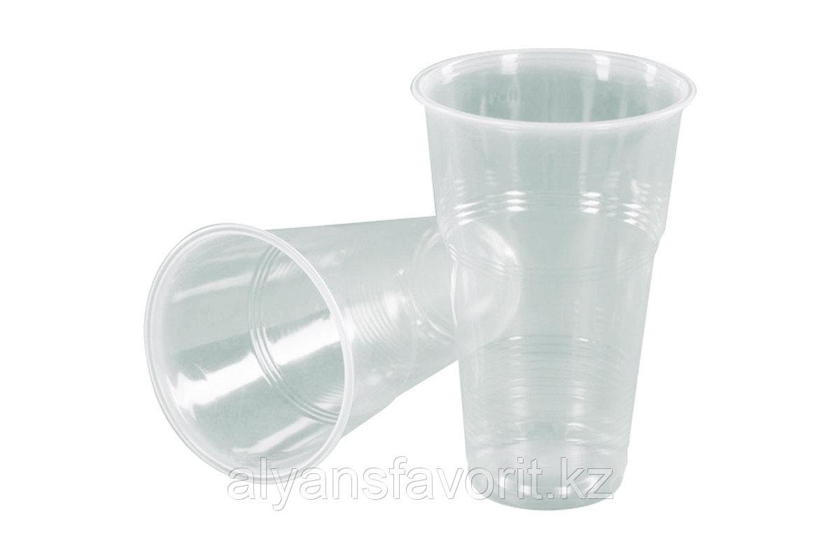 Стакан прозрачный пластиковый 500 мл. РФ