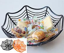 Конфетница пластиковая для Хэллоуина (диаметр 28 см) в ассортименте