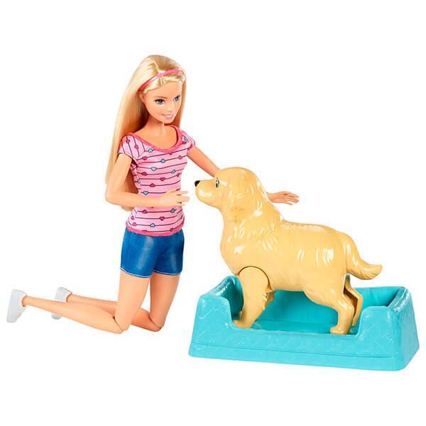 """Mattel Barbie Барби Игровой набор """"Кукла и собака с новорожденными щенками"""""""