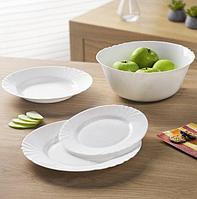 Сервиз столовый Cadix белый набор посуды 19 предметов на 6 персон