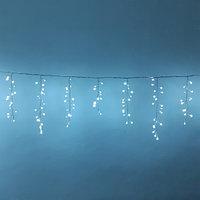 """Световая LED гирлянда """"Бахрома"""" - 5х0,7 метра, 310 лампочек, белый свет, светит постоянно"""