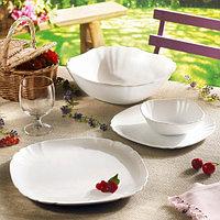 LOTUSIA белый сервиз столовый 18 предметов на 6 персон