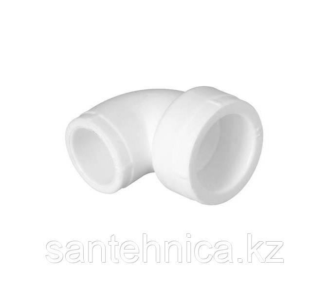 Отвод полипропиленовый переходной PP-R Дн 32*20/90гр Белый