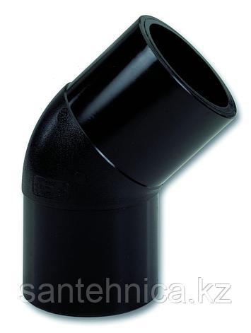 Отвод ПЭ100 спигот Дн 160*45гр SDR 17 Ру10 напорный, фото 2