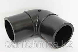 Отвод ПЭ100 спигот Дн 160*90гр SDR 17 Ру10 напорный