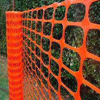 Сетка ограждающая. Аварийное ограждение 45х95мм (рулон 50м), оранжевая
