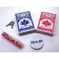 Набор карт для покера 2 колоды и зарики 5 штук
