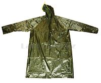 Плащ дождевик с козырьком в чехле МА-1102 зеленый