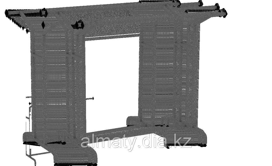 Стойка двойная наклонная д.1300, в.1200