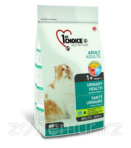 1st Choice URINARY HEALTH сухой корм для кошек на основе курицы 5,44 кг